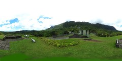 From the Kilonani Mauka Overlook at the Ho'omaluhia Botanical Gardens in Kaneohe, O'ahu - a 360 degree Equirectangular VR