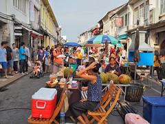 Old Phuket Town Sunday street night Market.
