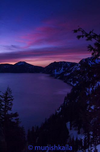 park winter lake snow water colors clouds oregon sunrise landscape nikon outdoor national crater smountain