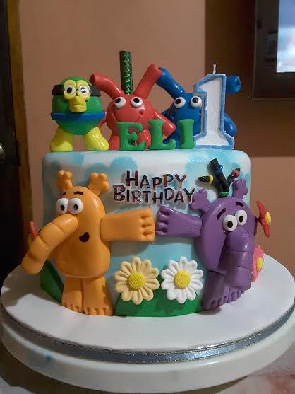 A Baby TV Themed Cake (Yaya, Maya, Eggbird & Popiz Characters) by Magic of Cake
