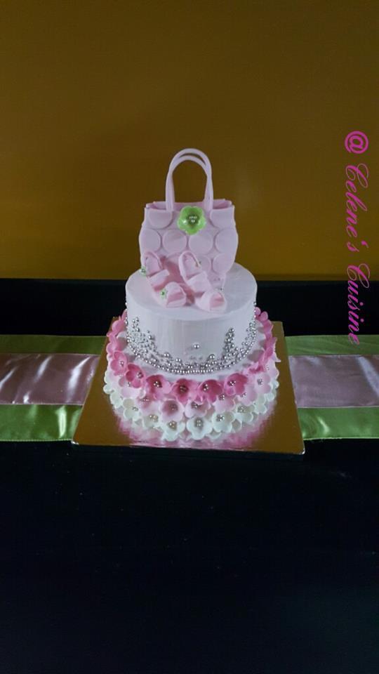 Pink Elegance Birthday Cake by LC Carter