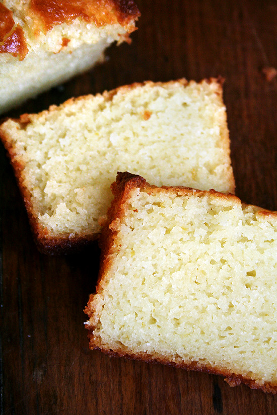 slices of lemon-ricotta pound cake