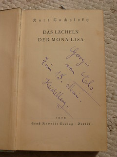 Kurt Tucholsky: Das Lächeln der Mona Lisa. 1929.