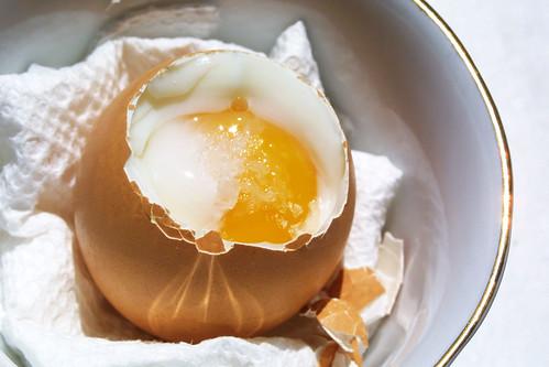 Sunny soft-boiled egg
