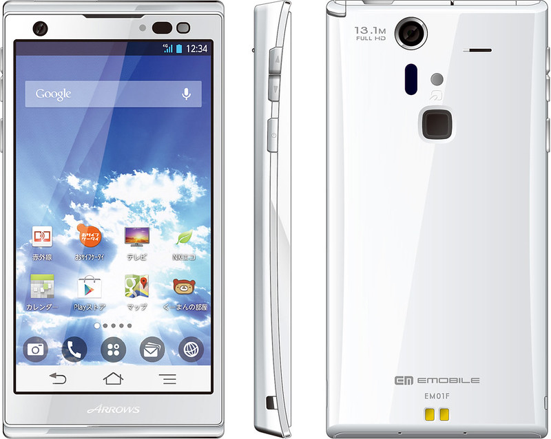 ARROWS S EM01F 実物大の製品画像