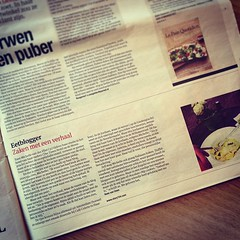 Ik sta in @hetparool!  #story154 #foodblog #eetblogger (Dutch newspaper)
