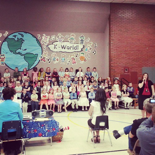 Kindergarten program.   Where is Elliott?