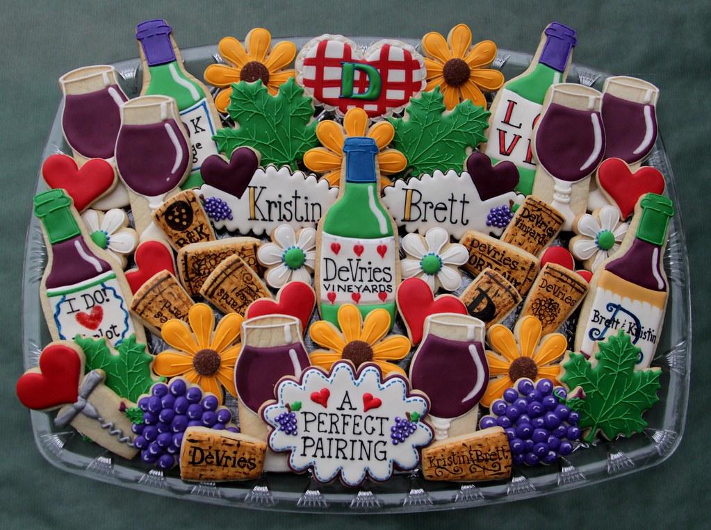 wine theme bridal shower platter