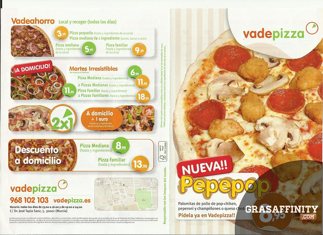 Vadepizza Carta