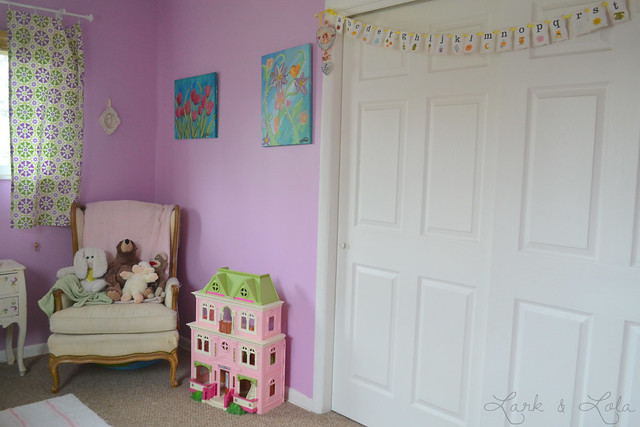 Eisley's reading corner