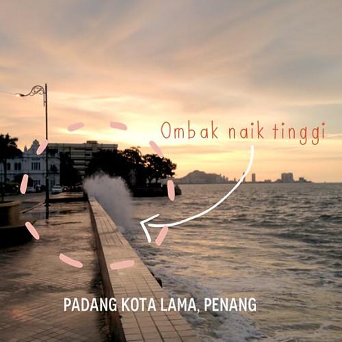 #ABeautifulMess #pantai #ombak #photobooth #Penang