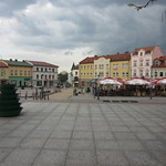 Main square, Chrzanow, Poland