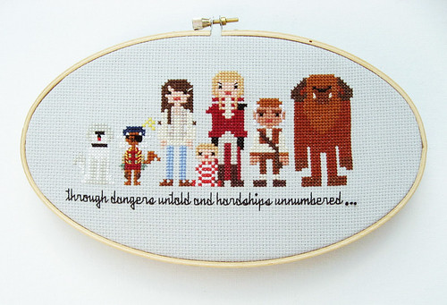Labyrinth cross stitch finally finished