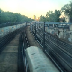 Skyline in the distance #igersboston #trains #mbta