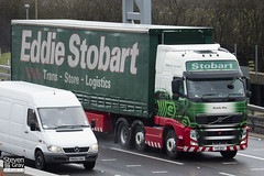 Volvo FH 6x2 Tractor - PX11 BXE - Rosella May - Eddie Stobart - M1 J10 Luton - Steven Gray - IMG_7922