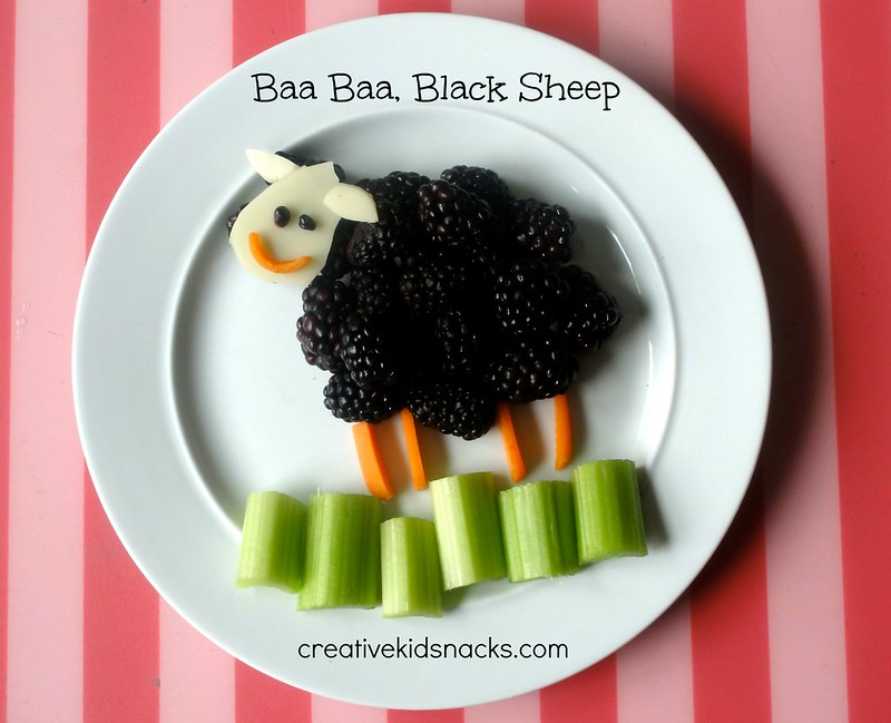 Creative Kid Snacks: Baa Baa Black Sheep