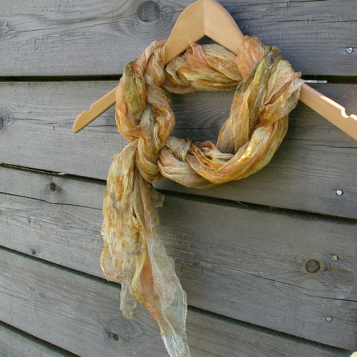 Silk gauze naturally dyed scarf by JaneBoFELT