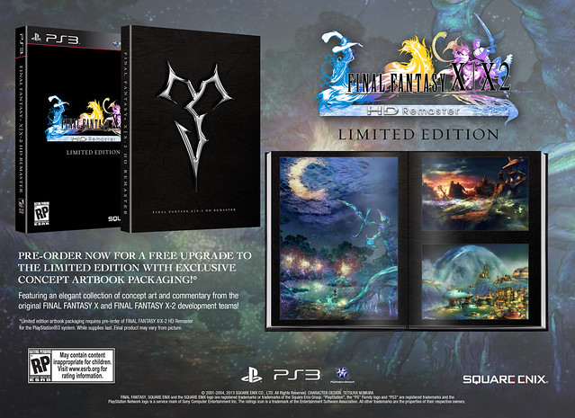Final Fantasy X and X-2 HD Remaster Limited Edition Art Book