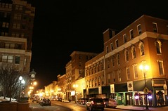 Augusta's main street at night