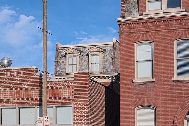 Soulard Neighborhood, in Saint Louis, Missouri, USA - Mansard roofs - 1