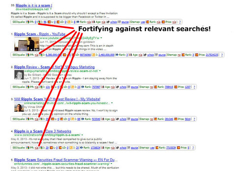 Fortyfying Against Relevant Searches