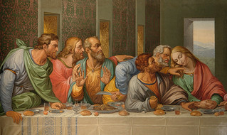 Detail of Da Vinci Last Supper by Giacomo Raffaelli