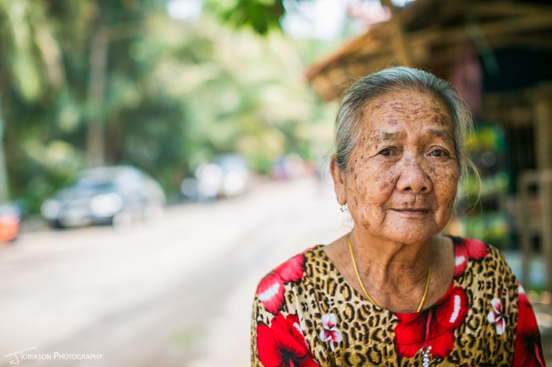 Buddhist woman Luang Prabang