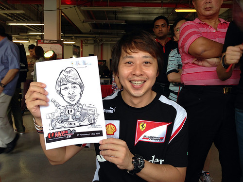 caricature live sketching for NTUC U Grand Prix Experience 2013 - 9