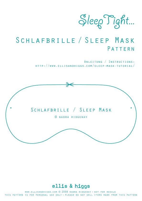Free Sleep Mask Patterns - Blonde Secretary Porn-2409