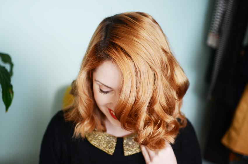 hair curled a