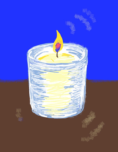 Candle  (Digital Drawing) by randubnick