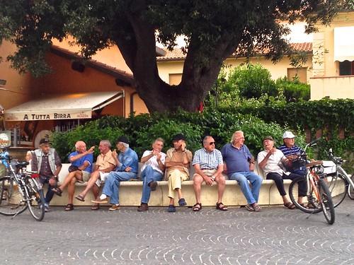 The old men of Castiglione della Pescaia