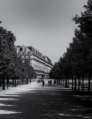 Stairs to Rue de Rivoli from Toullierrie Gardens, Paris