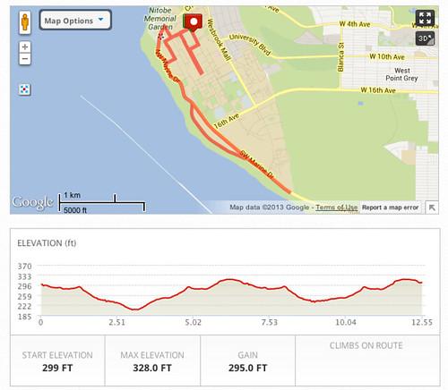 Fall Classic half marathon route