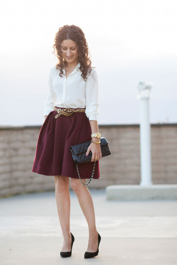 Burgundy Fall Skirt & Exciting News