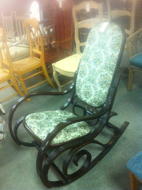 thrift store rocking chair
