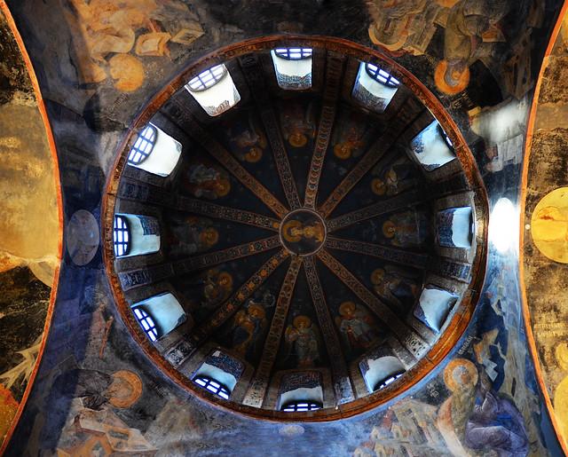 Cúpula del interior de Salvador en Chora Estambul