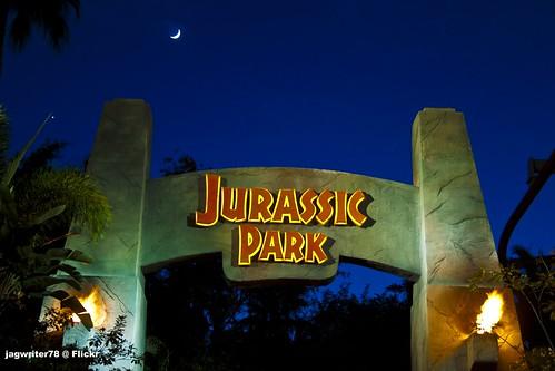 Moon over Jurassic Park