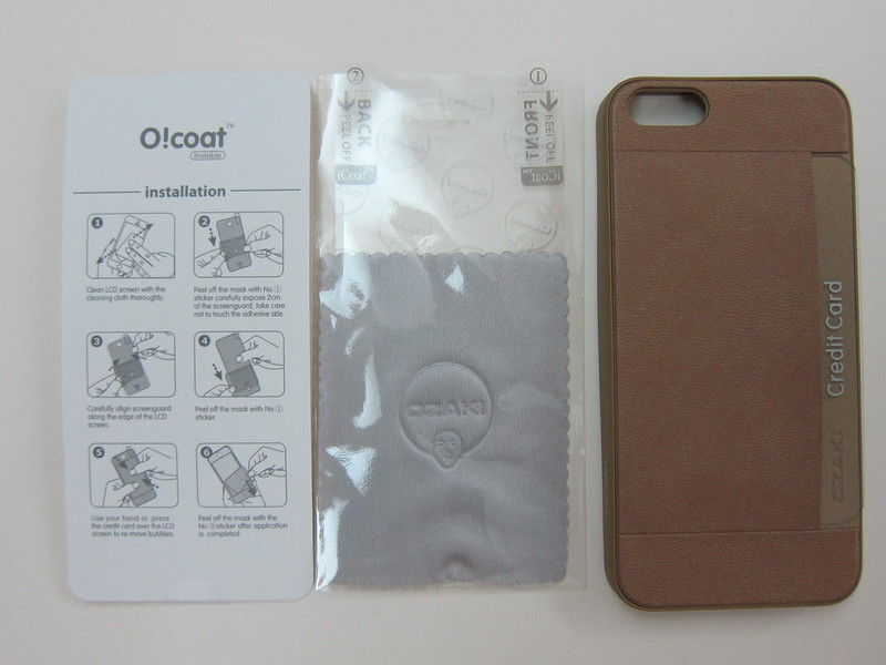 Ozaki O!coat 0.3+Pocket - Packaging Contents