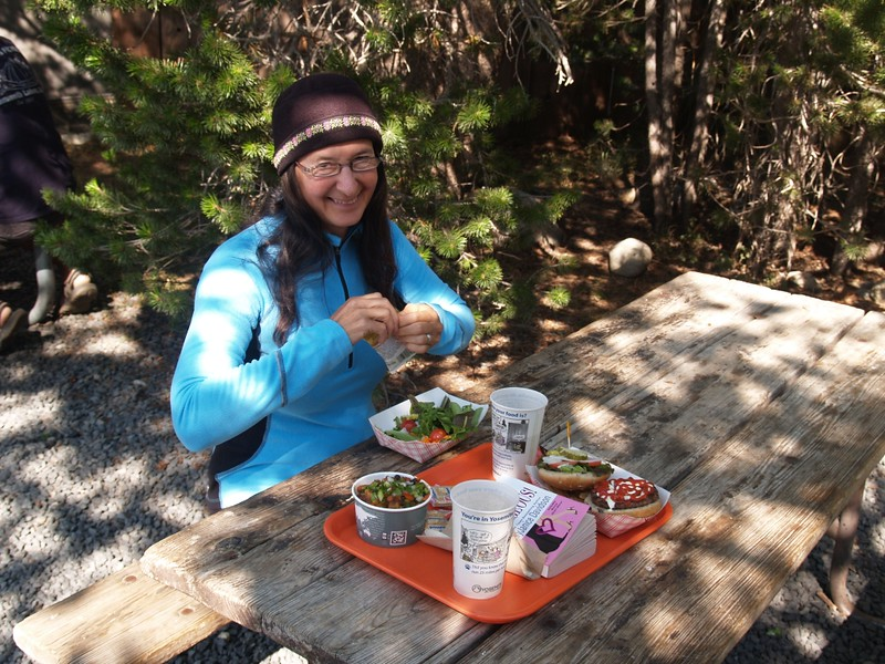 Eating Dinner at the Tuolumne Meadows Grill