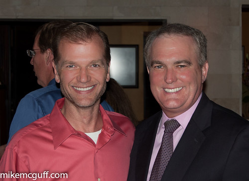 Fox 26's Ned Hibberd with KHOU 11 reporter Doug Miller.