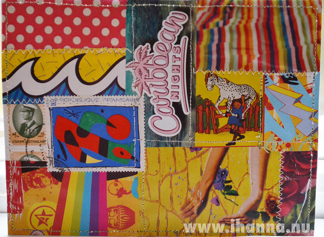 DIY Postcard Pop Art Collage - Pippi in Caribbean