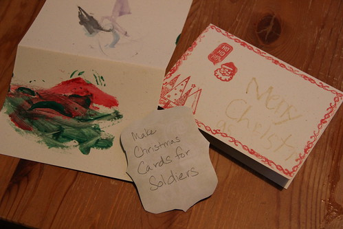Advent Day 1 - Christmas Cards for Soldiers
