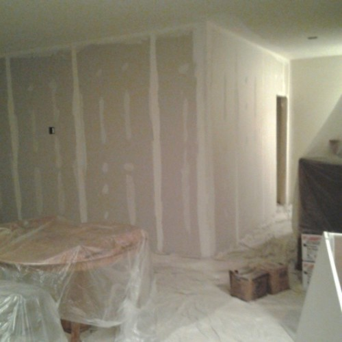 Bedroom walls are up! Can't wait to paint and decorate!