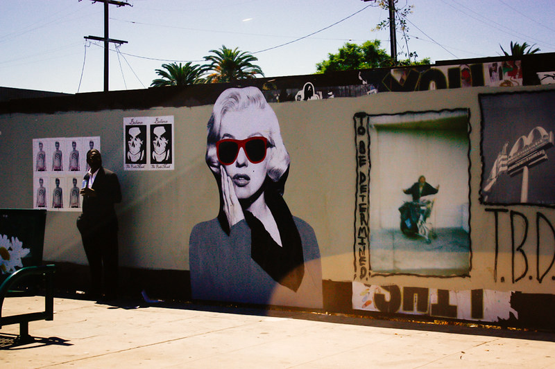 street art, los angeles, marilyn monroe, california, graffiti