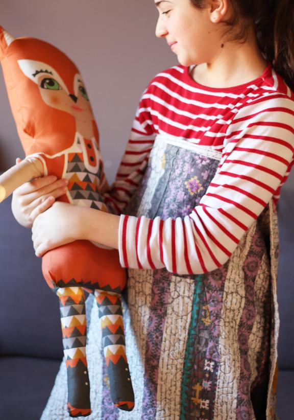 Big softie foxy fabric doll