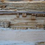 Closeup of wooden plank