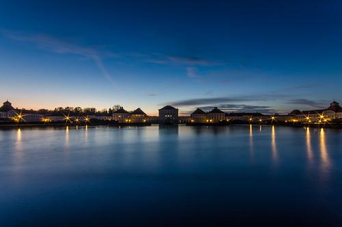 blue lake water night germany munich münchen bayern deutschland bavaria lights see wasser nightshot bluehour blau nymphenburgpalace blauestunde nymphenburgerschloss nikond7000 nikond7000hdr pwpartlycloudy