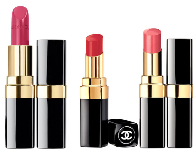 chanel collection variation for spring 2014 pinks and reds rouge coco lipsticks
