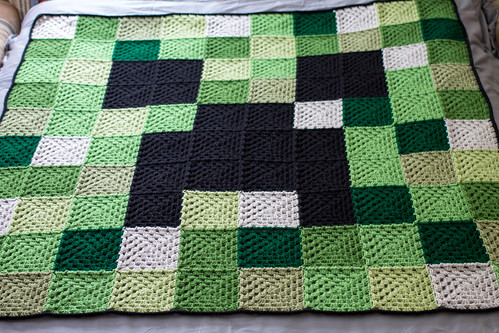 Free Crochet Patterns For Minecraft : Minecraft Afghan